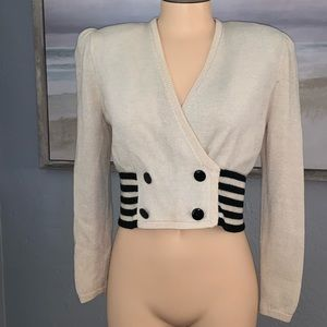 St. John Collection Vintage Cropped Cardigan 8